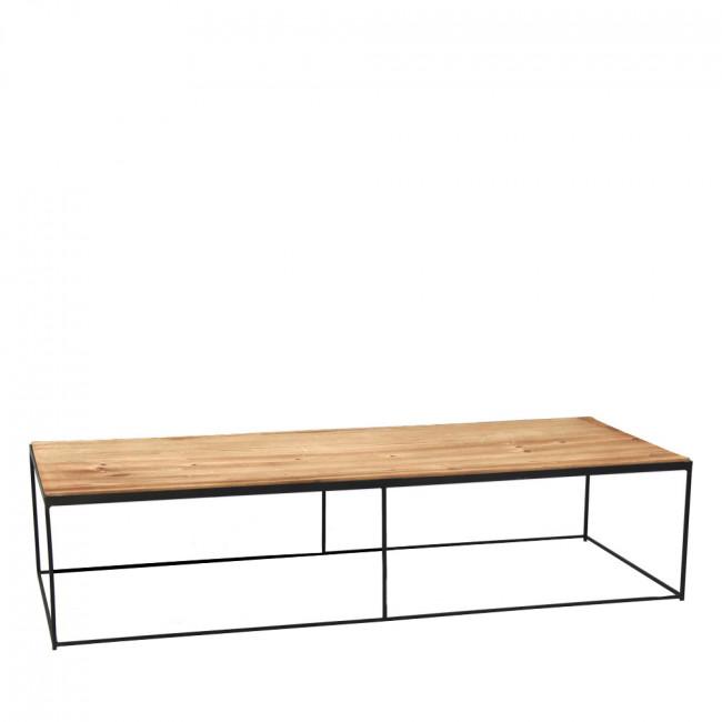 Table basse en métal et bois Structure