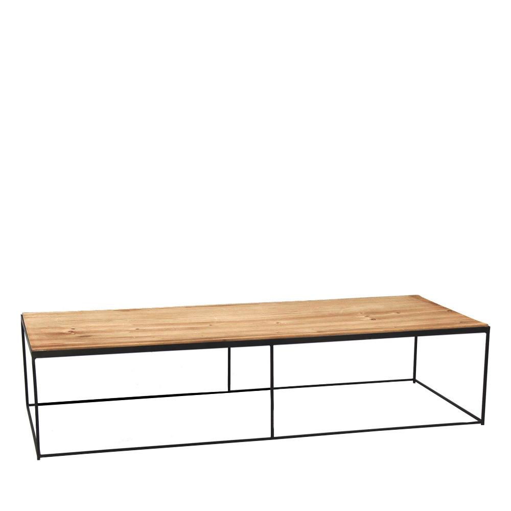 table basse en m tal et bois structure pomax drawer. Black Bedroom Furniture Sets. Home Design Ideas
