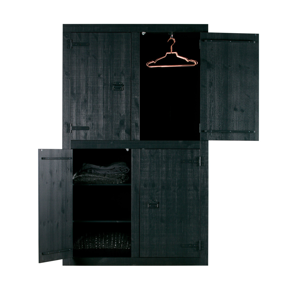 armoire en pin massif 4 portes bunk drawer. Black Bedroom Furniture Sets. Home Design Ideas