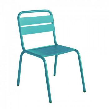 Chaise de jardin métal blanche design Visalia