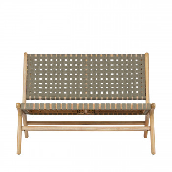 Banquette lounge indoor/outdoor en bois Frame