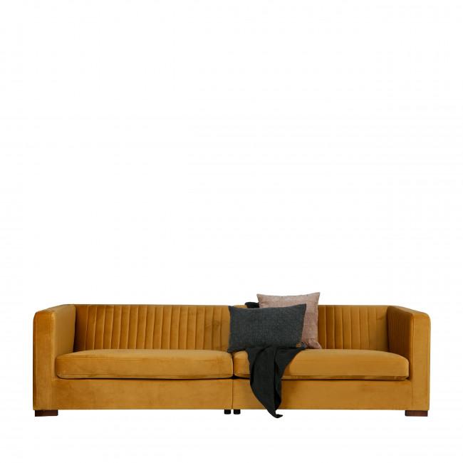 Canapé 4 places en velours XL Nouv