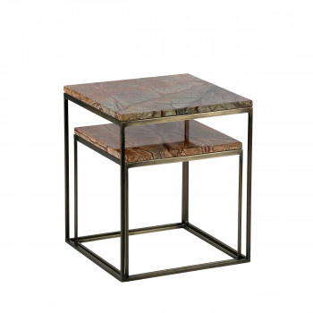 Lot de 2 tables gigognes en marbre Mellow