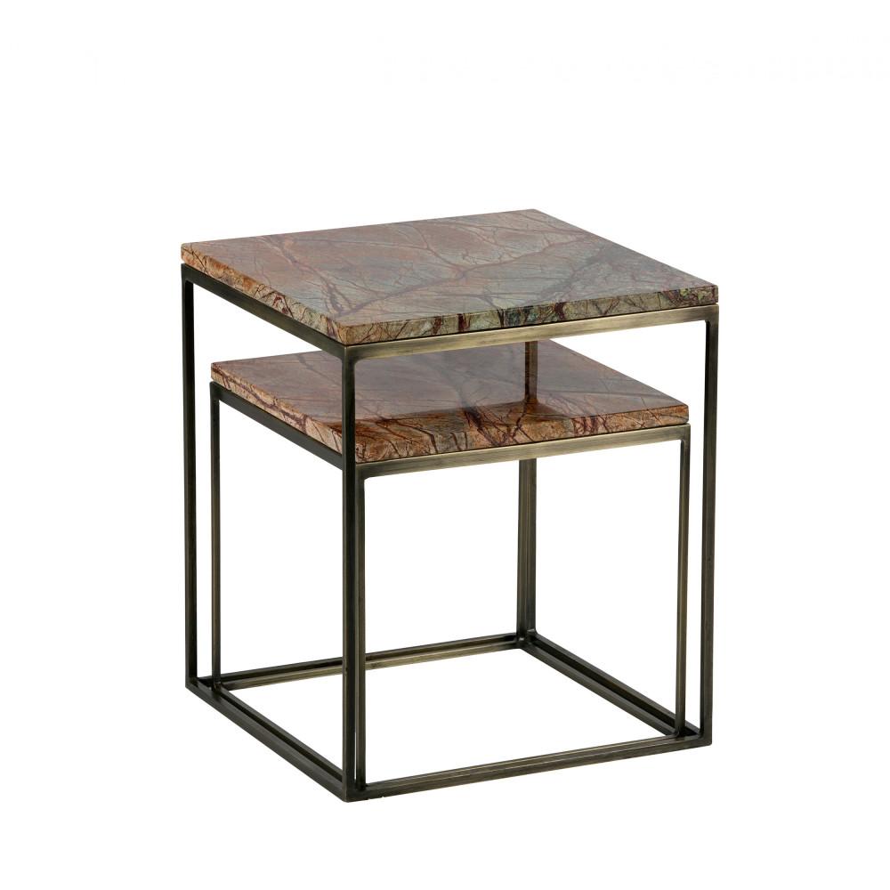 lot de 2 tables gigognes en marbre mellow drawer. Black Bedroom Furniture Sets. Home Design Ideas