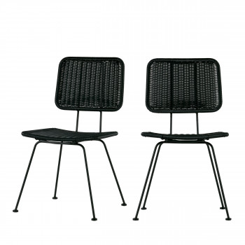 Lot de 2 chaises indoor/outdoor Hilde