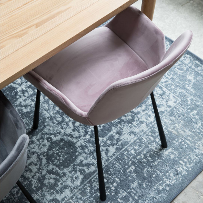 Lot de 2 fauteuils lounge velour rose Brit Zuiver