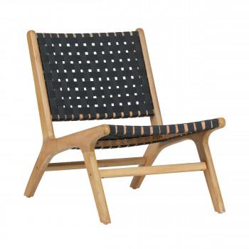 Fauteuil lounge indoor/outdoor en bois Frame