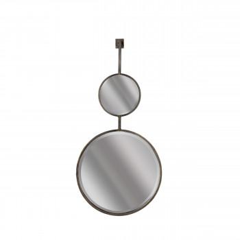 Miroir double suspendu métal L Chain