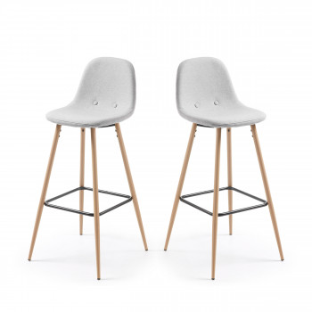 Lot de 2 tabourets de bar 75cm Nolite