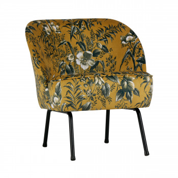 Fauteuil lounge en velours Vogue