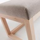 Banc en bois et tissu Loya