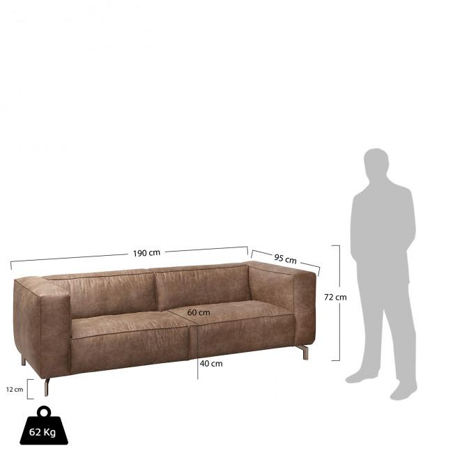 Canapé design 2 places cuir et pied métal Montreal
