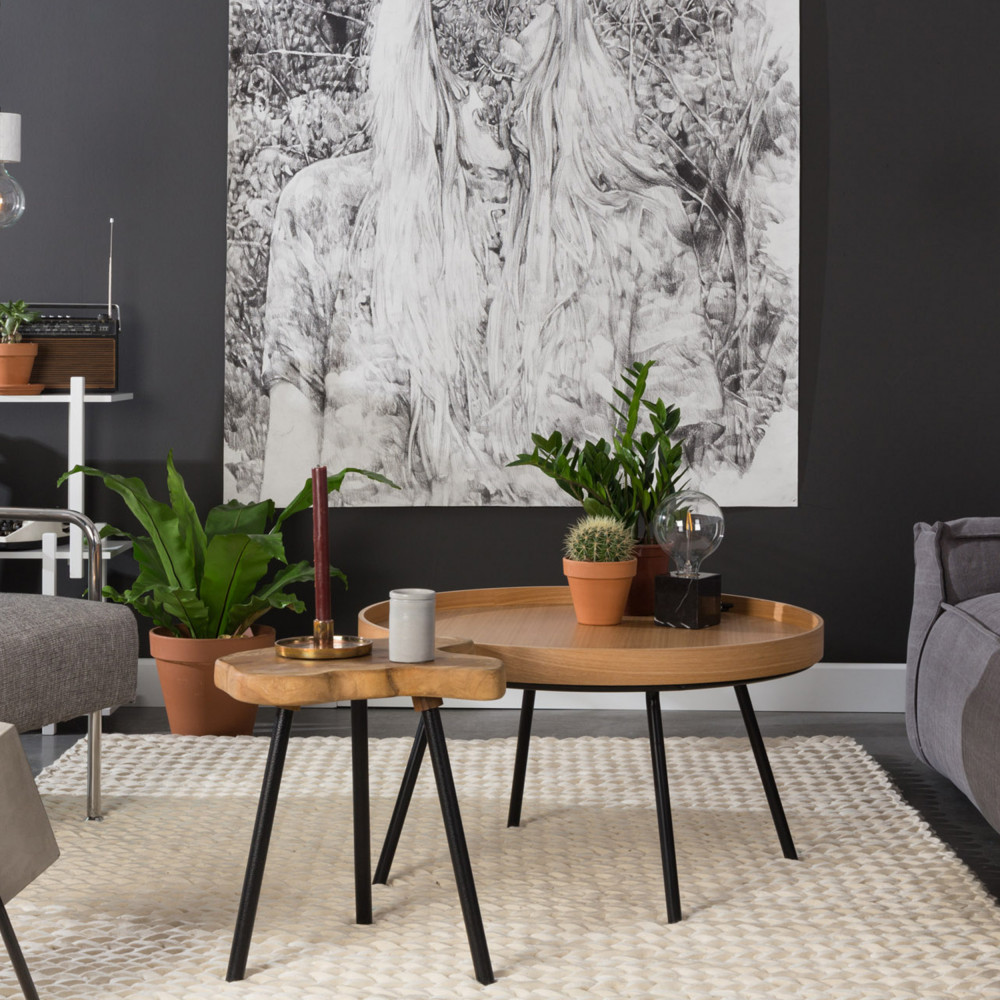 Table D Appoint Teck Et Metal Zuiver Treetop