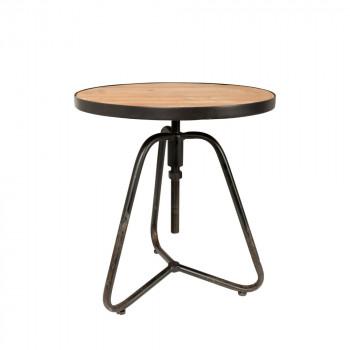 Table d'appoint en bois ø45,5cm Denzel