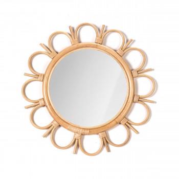 Miroir rond en rotin Tayrona