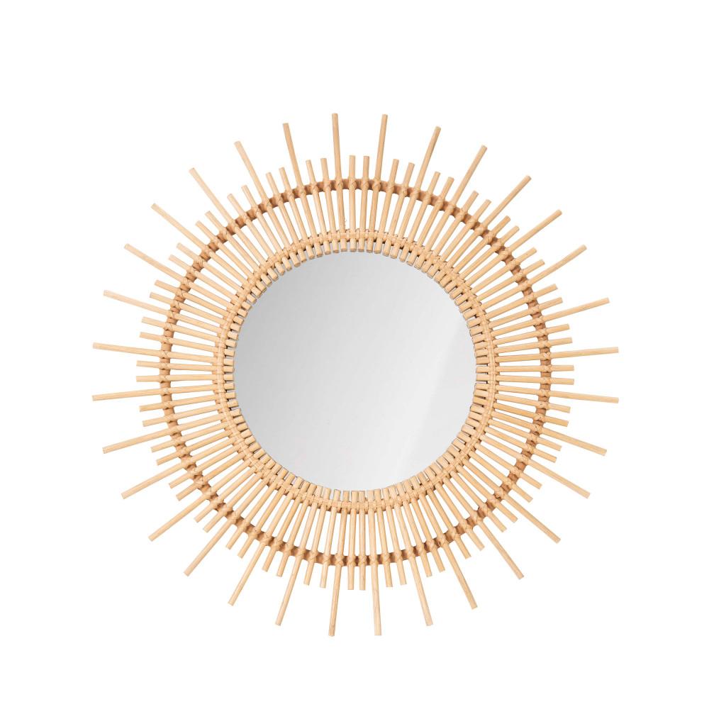 Miroir rond en rotin cocora drawer - Miroir en rotin ...