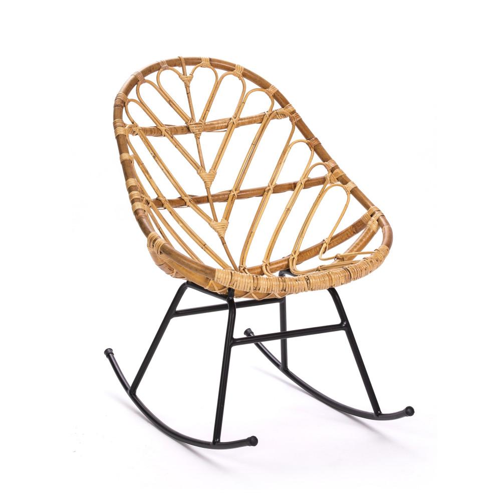 rocking chair vintage en rotin ette drawer. Black Bedroom Furniture Sets. Home Design Ideas