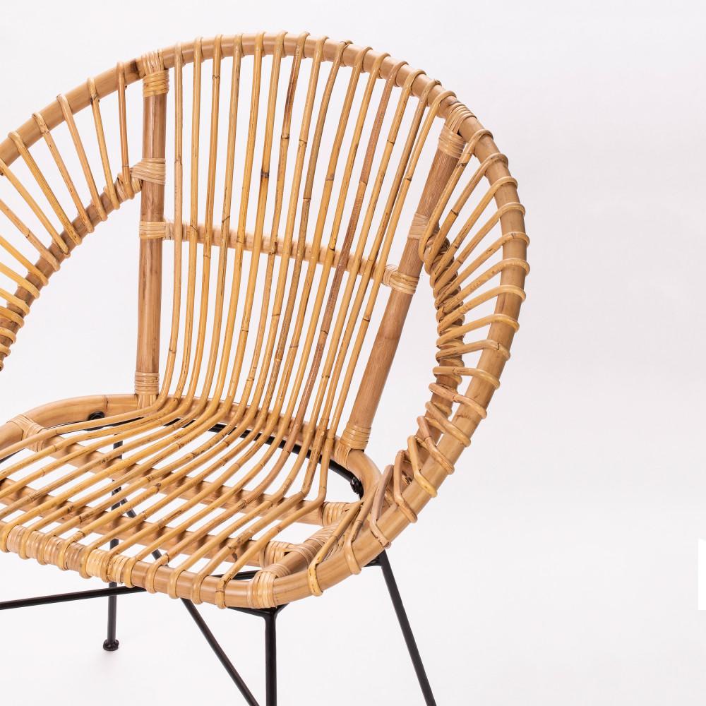 Cache Pied De Sapin Rotin cenoa - fauteuil vintage en rotin