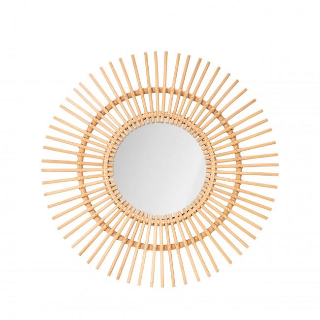 Miroir rond en rotin Ica
