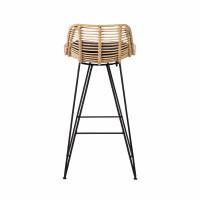Capurgana Design De Rotin Bar Chaise En 67cm 3R4Aj5L