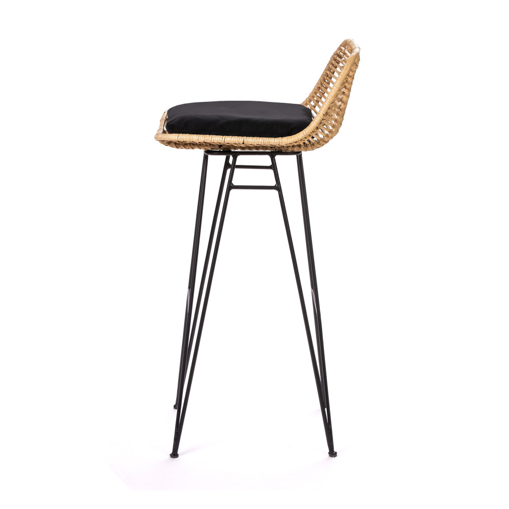 Chaise De Bar Design En Rotin 75cm Drawer