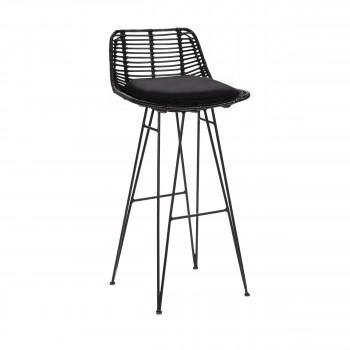 Chaise de bar design en rotin 75cm Capurgana