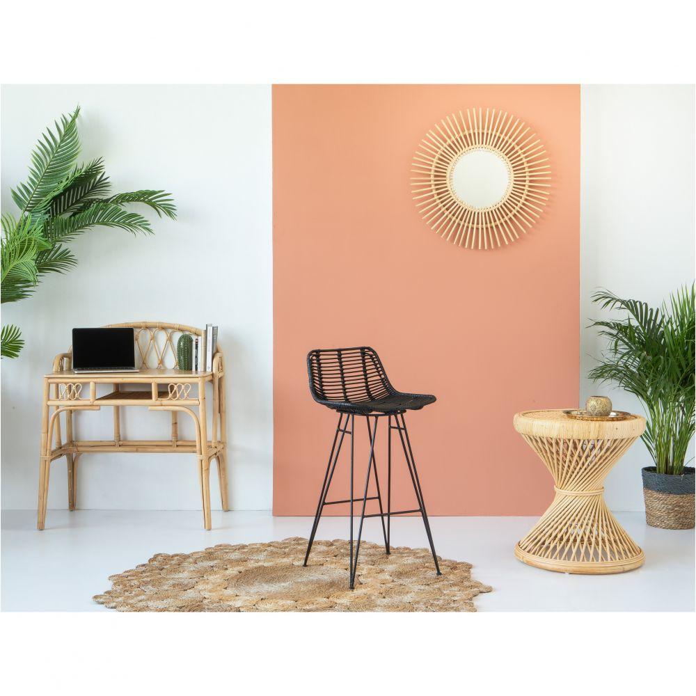 chaise de bar design en rotin 69cm capurgana drawer