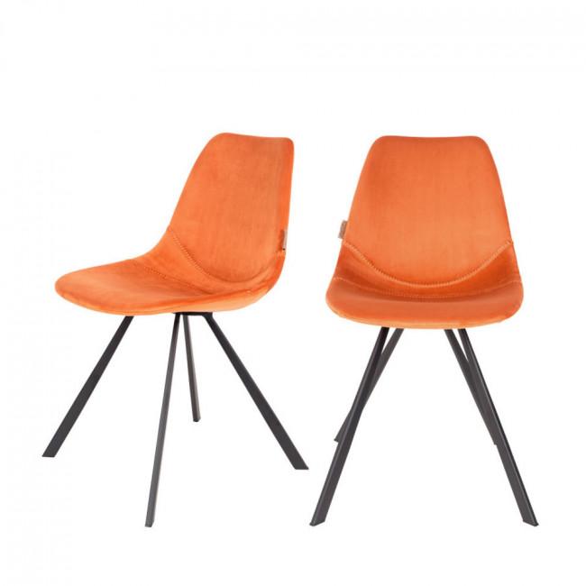 Lot de 2 chaises en velours Franky Dutchbone