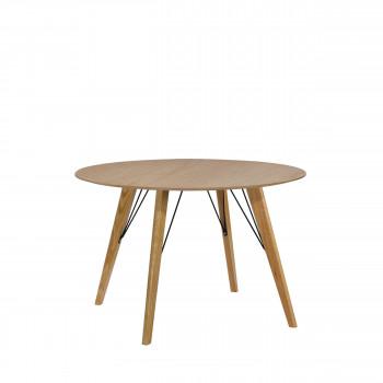 Table à manger laquée ronde ø100 Cirkel