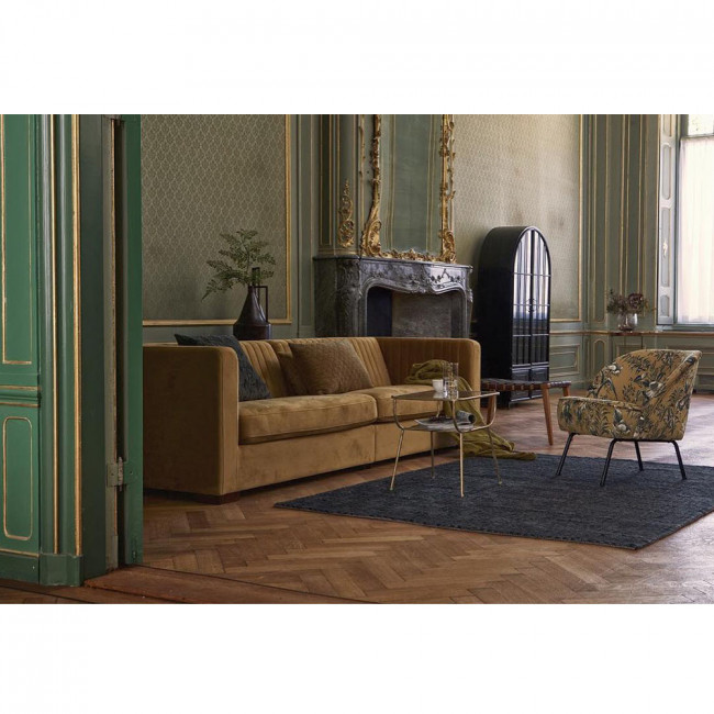 Canapé 4 places en velours XL Nouv vert