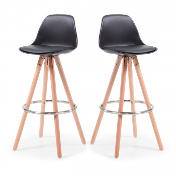 Lot de 2 tabourets de bar scandinave Slad