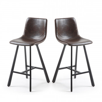 Lot de 2 tabourets de bar vintage 61cm Trap