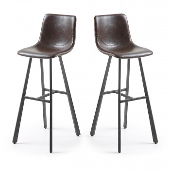 Lot de 2 tabourets de bar vintage 81cm Trap