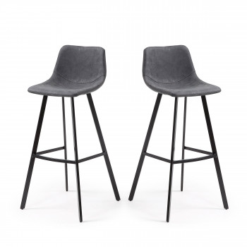 Lot de 2 tabourets de bar 80cm Alve