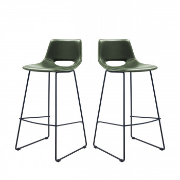 Lot de 2 tabourets de bar Zahara