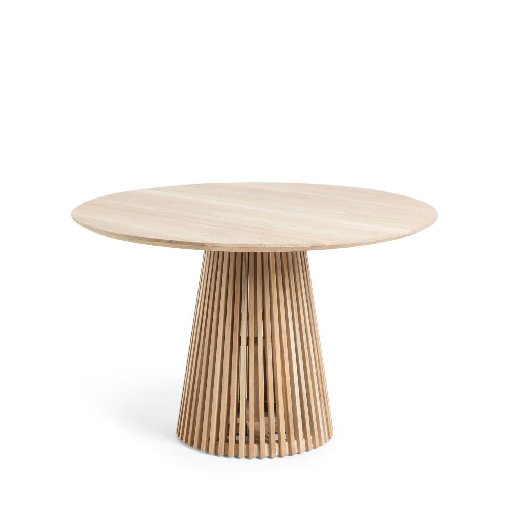 table manger ronde teck 120cm jeanette drawer. Black Bedroom Furniture Sets. Home Design Ideas