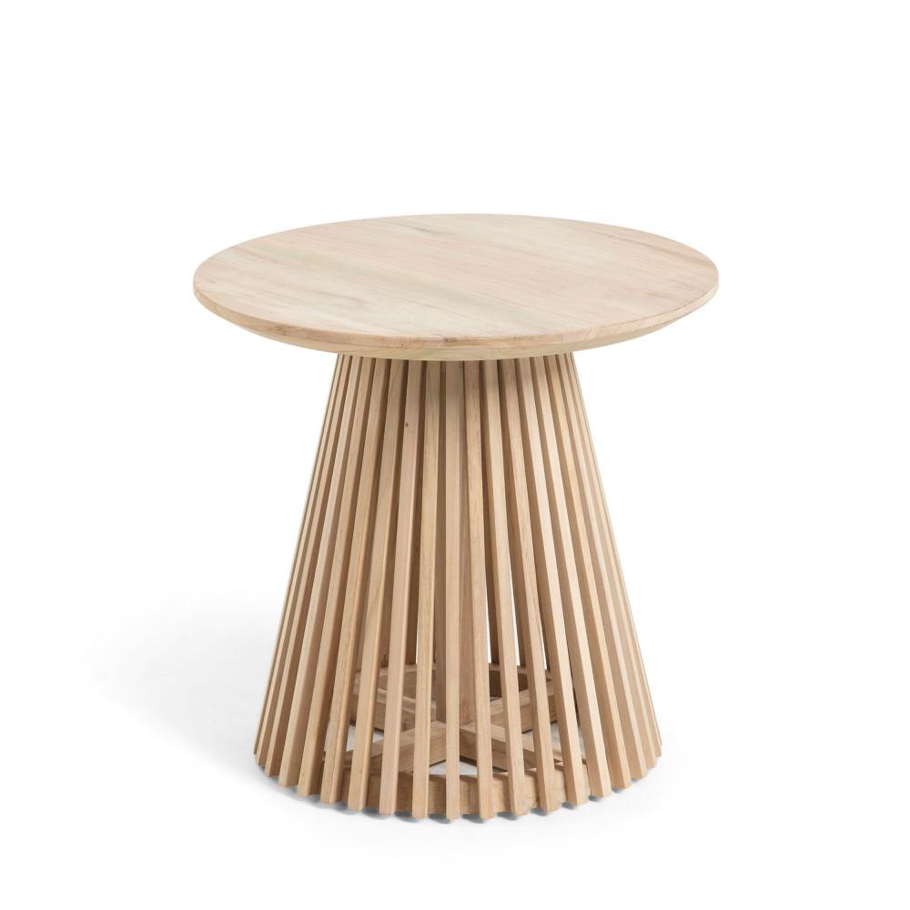 table d 39 appoint ronde teck 50cm jeanette drawer. Black Bedroom Furniture Sets. Home Design Ideas