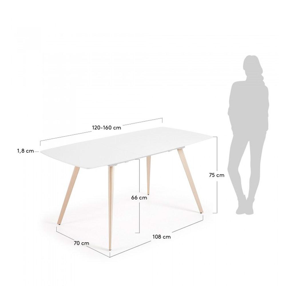 Table A Manger 120 Cm.Table A Manger Extensible 120 160x80cm Smash