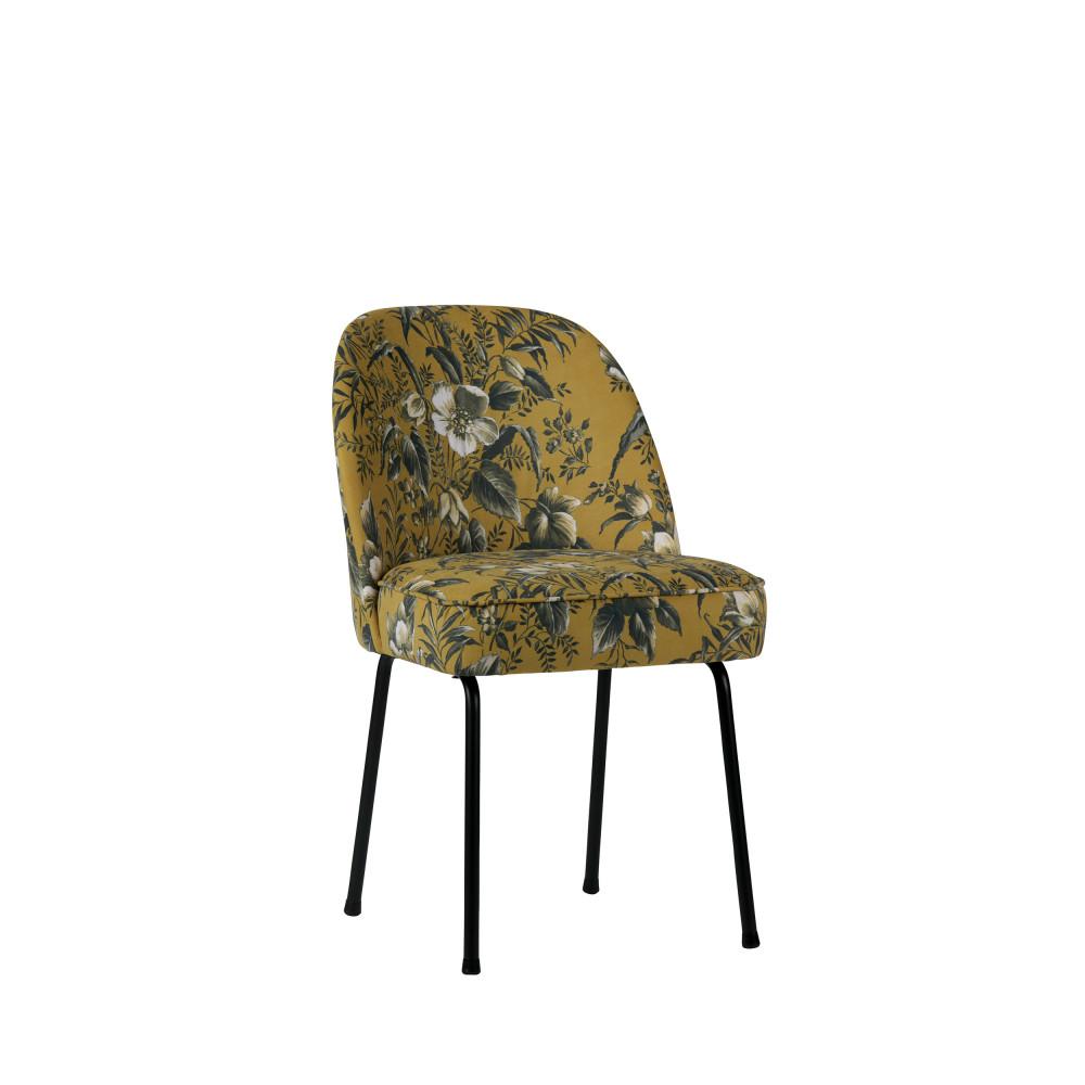 2 Chaises Design En Velours Woood