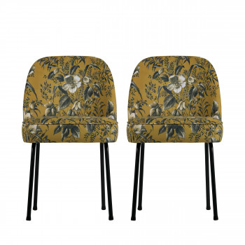 Lot de 2 chaises design en velours Vogue