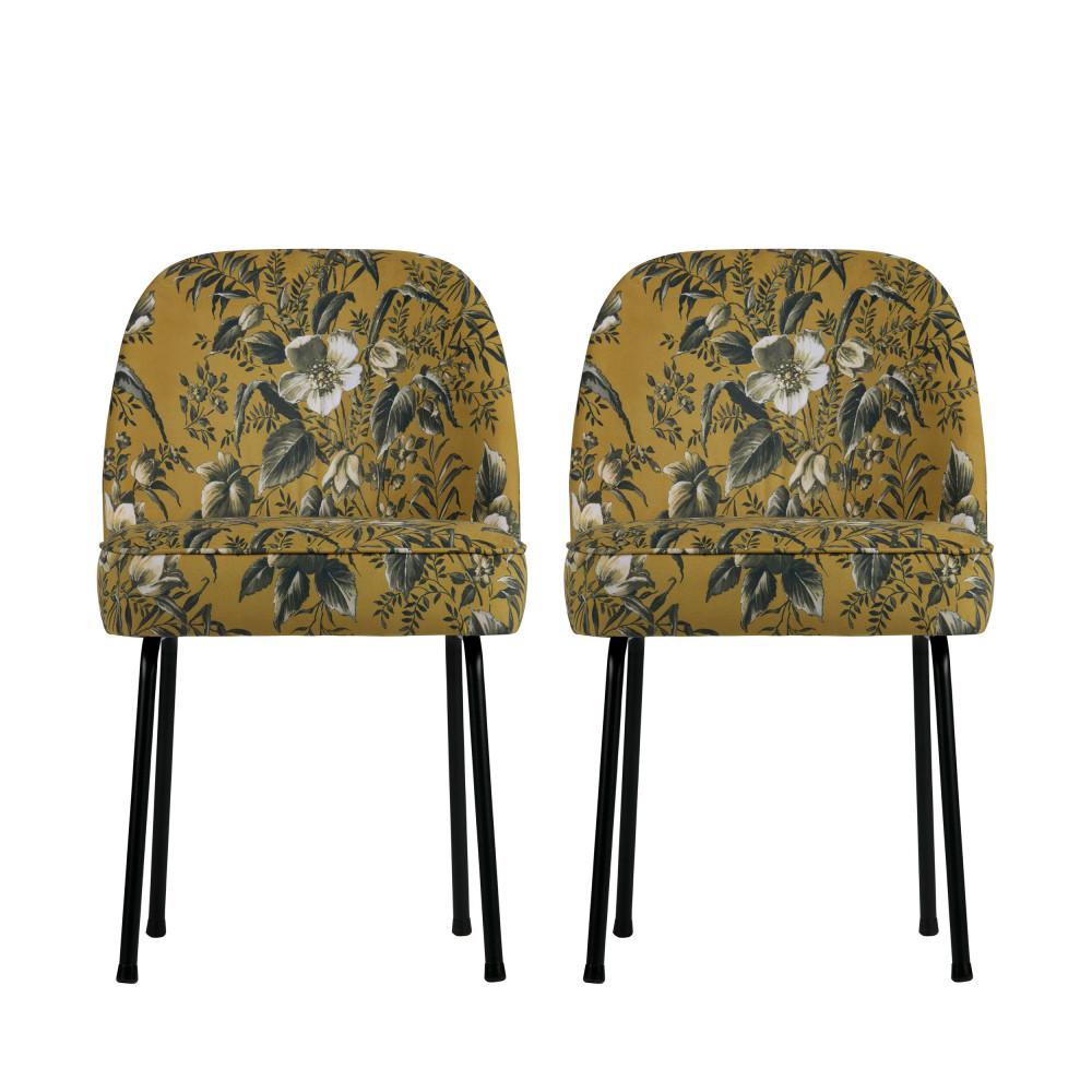 Lot De 2 Chaises Design En Velours Vogue Drawer