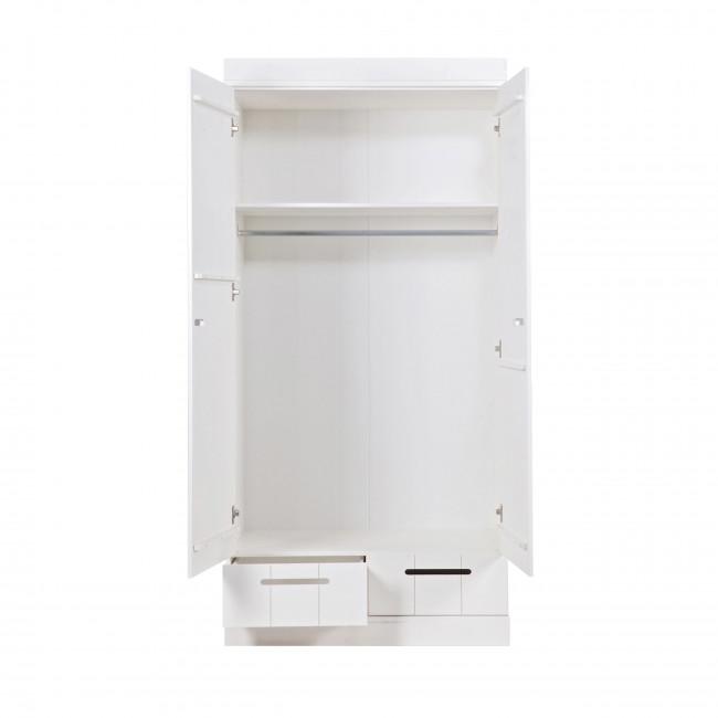 Armoire en pin 2 portes 2 tiroirs Connect