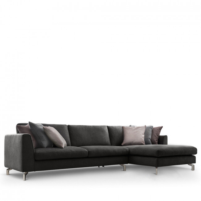 Canapé d'angle droit tissu Linate