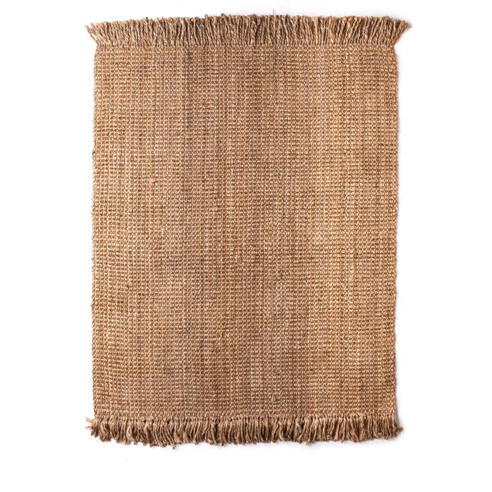tapis rectangulaire en jute tiss main lina - Tapis Jute