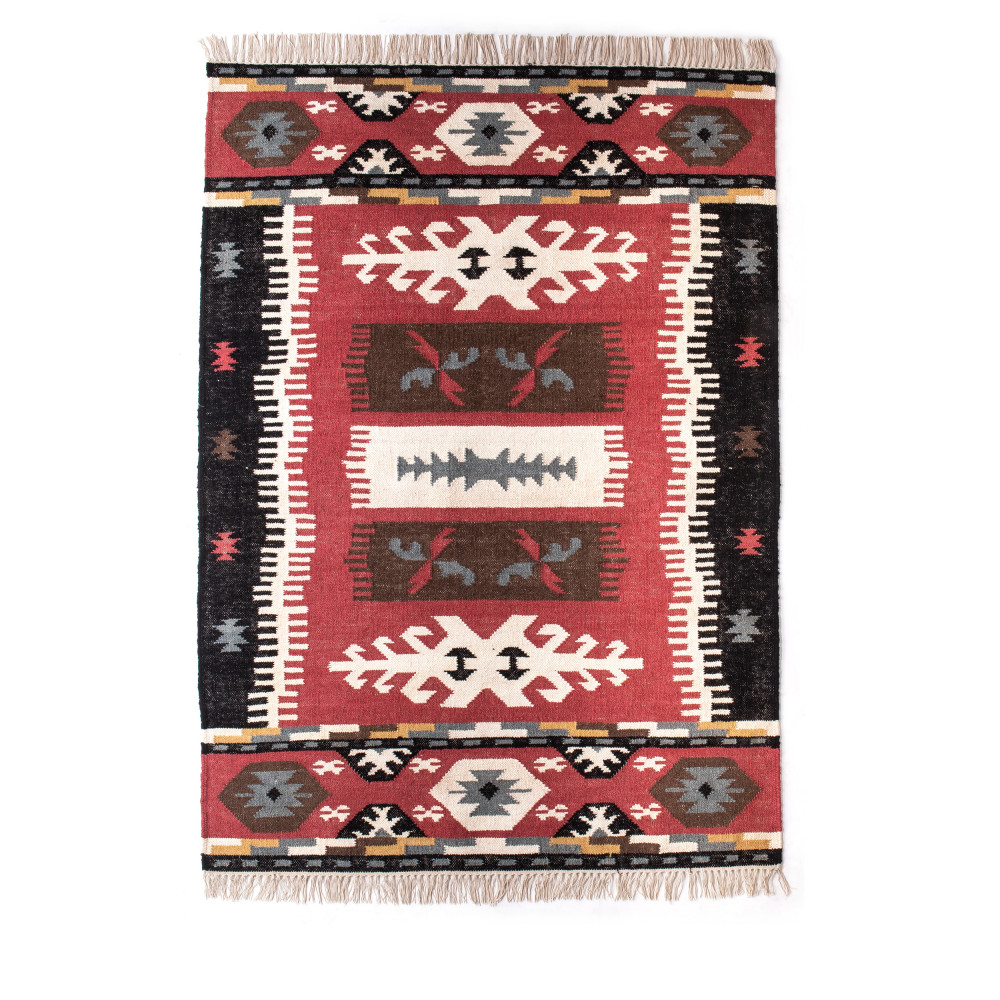 tapis kilim en laine coton tiss main nael drawer. Black Bedroom Furniture Sets. Home Design Ideas
