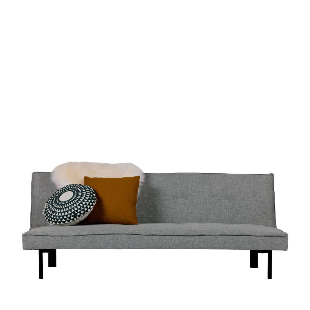Canape 2 Places Convertible En Similicuir Milan Drawer