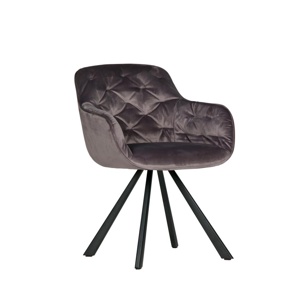 Chaise Design Velours Par Drawer