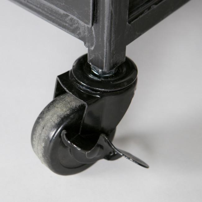 Chiffonier 4 tiroirs en métal Alex