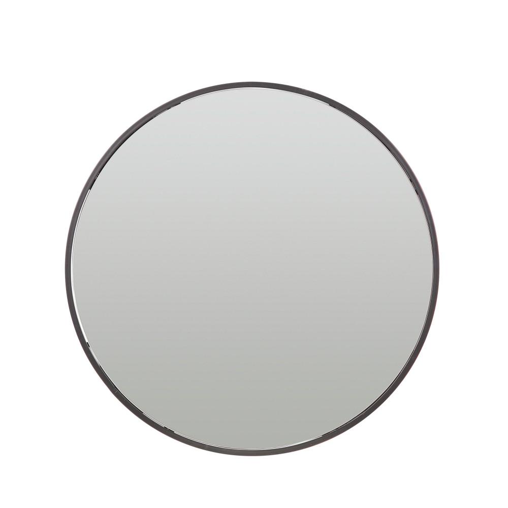 miroir en m tal rond 60 cm olivia drawer. Black Bedroom Furniture Sets. Home Design Ideas