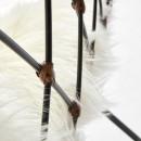 Fauteuil design en métal et rotin Claren